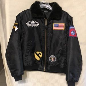 Other - Boys Black Flight Jacket Size L